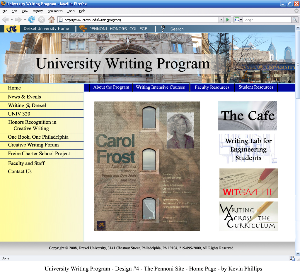 drexel university writing center Writing your personal statement can be a difficult process and often delays a  career development center and website pathway directors, faculty and.